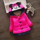 1pc Baby girls winter coat thick warm padded coat girls quilted jacket cartoon