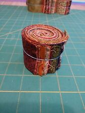 "20 Pre-cut Quilting Fabric Strips jelly roll 2"" x 18""  Autumn leaves FALL colors"