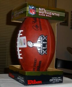 Super Bowl XLIX 49 FOOTBALL AUTHENTIC Same as used by TOM BRADY 2 win Super bowl