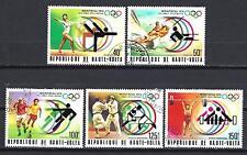 JO été Haute Volta (48) série complète de 5 timbres oblitérés