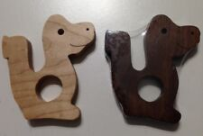 Wooden Teethers - 12 Styles Made of Hard Maple and Walnut - Handmade