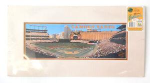 1992 First Camden Pitch by Bill Purdom Matted Ballparks 1st Series Artwork