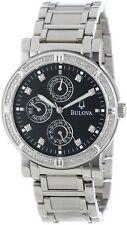 Bulova 96E04 Multifunction Diamond Accent Black Dial Day Indicator Men's Watch