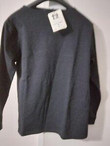 Guildo UA by Saint James  Long Sleeve NOIR  Black Top Size T1 100% Cotton New