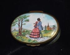 "Bilston Battersea Limited Edition""The Daydream"" Lover's Trinket Box by Tennyson"