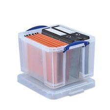 35 LITRE REALLY USEFUL PLASTIC STACKABLE STORAGE BOXES KITCHEN OFFICE - NEW