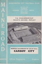 MANCHESTER CITY v CARDIFF CITY ~ FA CUP 4TH ROUND ~ 22 FEBRUARY 1967
