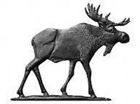 "30"" Moose BLACK Garden Mount Weathervane Cabin Lodge Aluminum Whitehall Products"