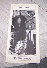 Rare Gibson Pre Owners Manual for Banjos circa 1970s