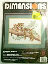 Dimensions Counted Cross Stitch Kit Lounging Leopards 3719 Powell 1992 USA