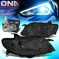 FOR 2001-2003 MAZDA PROTEGE OE STYLE HEADLIGHT LAMPS W/LED KIT SLIM STYLE SMOKED