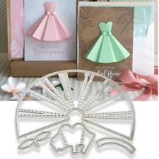 Carbon Steel Cute Skirt Dress Cutting Dies Stencil Templates Mold DIY Paper Art