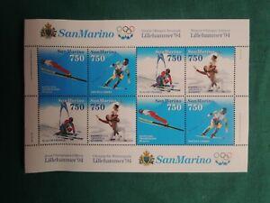 *L68*- SAN MARINO - OLIMPIADI LILLEHAMMER 94 - 8  FRANCOBOLLI 750 SERIE
