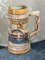 Vintage ATLANTIC CITY NJ Souvenir Beer Stein - Made in Japan