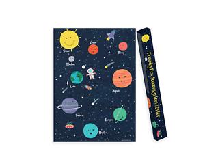 Sonnensystem Poster Kinderzimmer, Weltraum Poster für Kinder, unsere Planeten