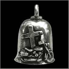 Jesus Rides with Me Motorcycle Guardian Angel Harley Good Luck Gremlin Bell USA