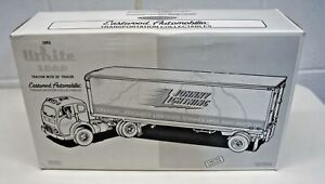 1st First Gear 1953 White 3000 Tractor with 30' Trailer Johnny Lightning 1/34