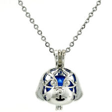 K689 Dog Beads Cage Locket Necklace 18""