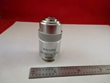 MICROSCOPE PART OBJECTIVE LEITZ GERMANY FLUOTAR 100X INFINI OPTICS AS IS #F2-A-9