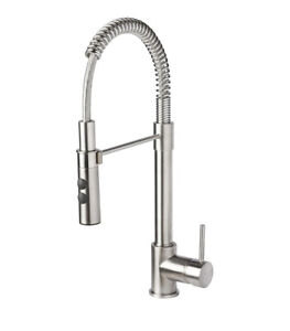 IKEA VIMMERN Mischbatterie mit Brause Küchen-Armatur Edelstahl Flexibel Silber