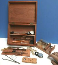 Microscope [ Slide Makers Box ] Mahogany fitted box