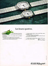 PUBLICITE ADVERTISING 094  1980  EMILE PEQUIGNET  montre collection  HEURES SPOR