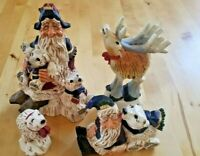 David Frykman Lot christmas Santa Claus Figurines Polar Bears 1990s Coynes