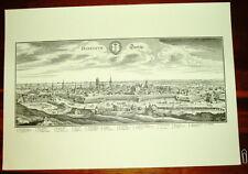Danzig Gdansk: alte Ansicht Merian Druck Stich 1650