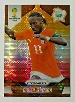 2014 Panini Prizm World Cup Yellow & Red Pulsar Prizm Didier Drogba #60