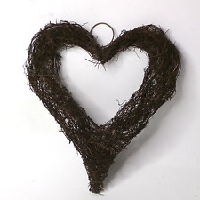 Hanging Heart Wreath Rustic Country Style Wreath Natural Twig Wreath Wicker