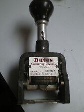 Old Bates Numbering Machine Style E 6 Wheel