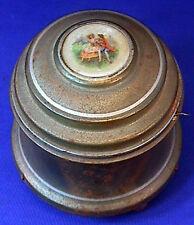 Old Victorian Wind-Up Music Vanity Powder Box STILL PLAYS Needs Restoration