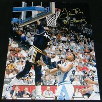 GLEN RICE AUTOGRAPHED SIGNED MICHIGAN WOLVERINES 16x20 PHOTO W/ 89 CHAMPS