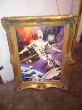 Silver Surfer Großer- Antiker Bilderrahmen Barock-Prunk-Rahmen Gold  78 x 68 Cm