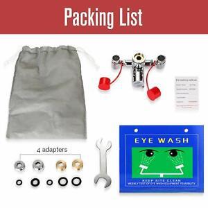 Eyewash Station Emergency Eye Wash Kit Eyewash Faucet Mounted Sink Attachment US