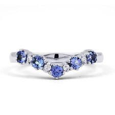 Anillos de joyería de oro blanco boda diamante
