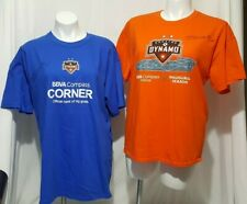 HOUSTON DYNAMO BBVA COMPASS AUTOGRAPHED BRIAN CHING PAIR MEN'S SZ XL TSHIRTS