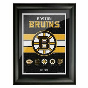 """Boston Bruins Team Tradition Composite Photo (Size: 14"""" x 18"""") Framed"""