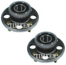 Pair Set 2 Rear Timken Wheel Bearing And Hub Kits for Honda Civic 1996-2000 FWD