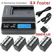 Kastar F770 Battery & Ultra Fast Charger(4X faster) for Sony CCD-TRV93, HDR-FX1