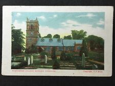Vintage Postcard - Cheshire #7- Rostherne Church & Graveyard Bowden Cheshire '04