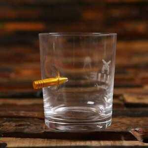 Personalised Bulletproof Sharp Shooter Whisky Glass and Target Practice Bag Set