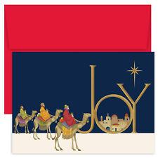 Joy Wisemen Religious Boxed Holiday Christmas Cards - Set of 18