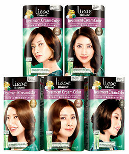 [LIESE BLAUNE] Kao Japan Treatment Cream Color GRAY COVERAGE Hair Dye Kit NEW