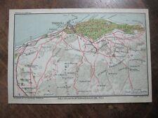 stampa antica MAPPA STRADARIO COLONIE LIBIA OASI DI TRIPOLI E DINTORNI 1929
