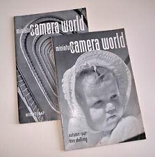 MINIATURE CAMERA WORLD MAGAZINE - 1947 YEAR BUNDLE OF 2 - GOOD CONDITION