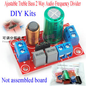 Ajustable Treble Bass 2 Way Audio Frequency Divider DIY Kits Crossover Filters D