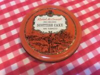 "Vintage ""Robert McConnell"" Original Scottish Cake Pipe Tobacco Tin"