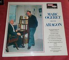 MARC OGERET  LP ORIG FR CHANTE ARAGON