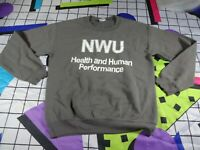 vtg 90s nwu gildan  university football uni sweatshirt sweater jumper